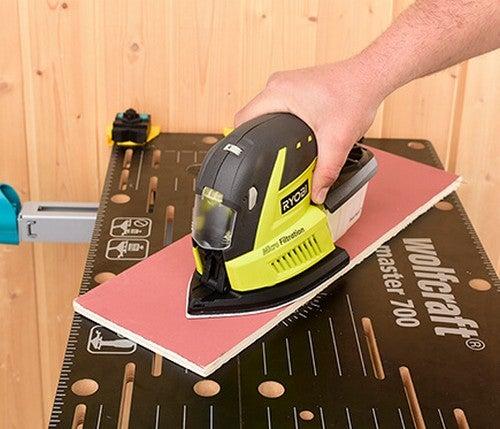 A multi lixadeira é utilizada para todo tipo de superfície e material