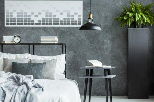 Um efeito moderno e intenso é o resultado da preservação da textura do cimento, além de sua cor acinzentada nas paredes