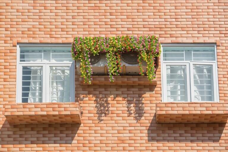 Esconder o aparelho de ar-condicionado