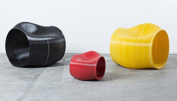 Móveis originais impressos em 3D