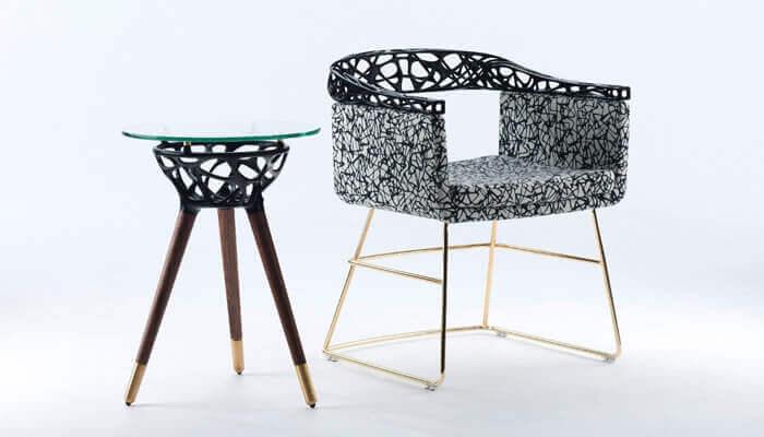 móveis originais impressos em 3D: Conjunto de móveis RIO