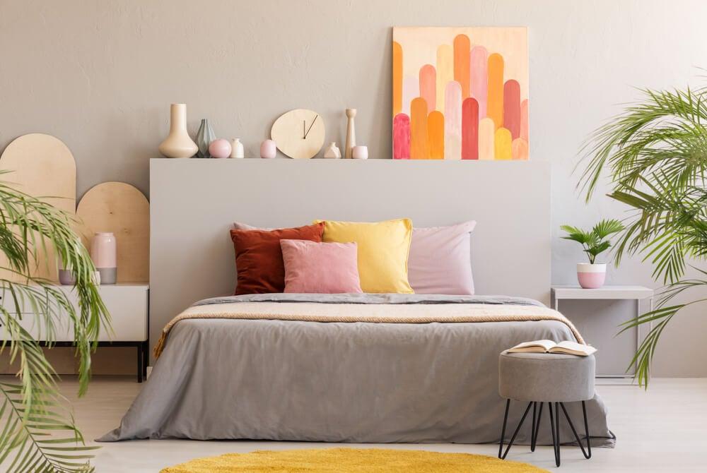 Projetos decorativos cheios de cor