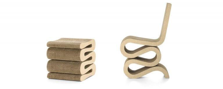 Os móveis de Frank Gehry: cadeira Wiggle