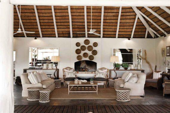 Casa no estilo Out of Africa: as texturas