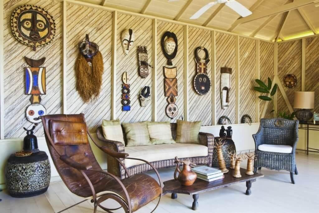 Uma casa no estilo Out of Africa: decoração 100% selvagem