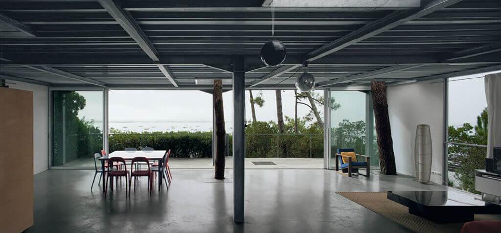 A casa Cap Ferret, natureza dentro de casa