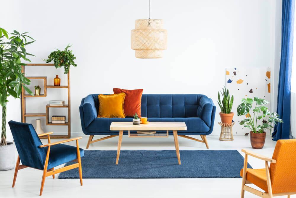 O azul e o laranja, uma combinação de duas cores opostas