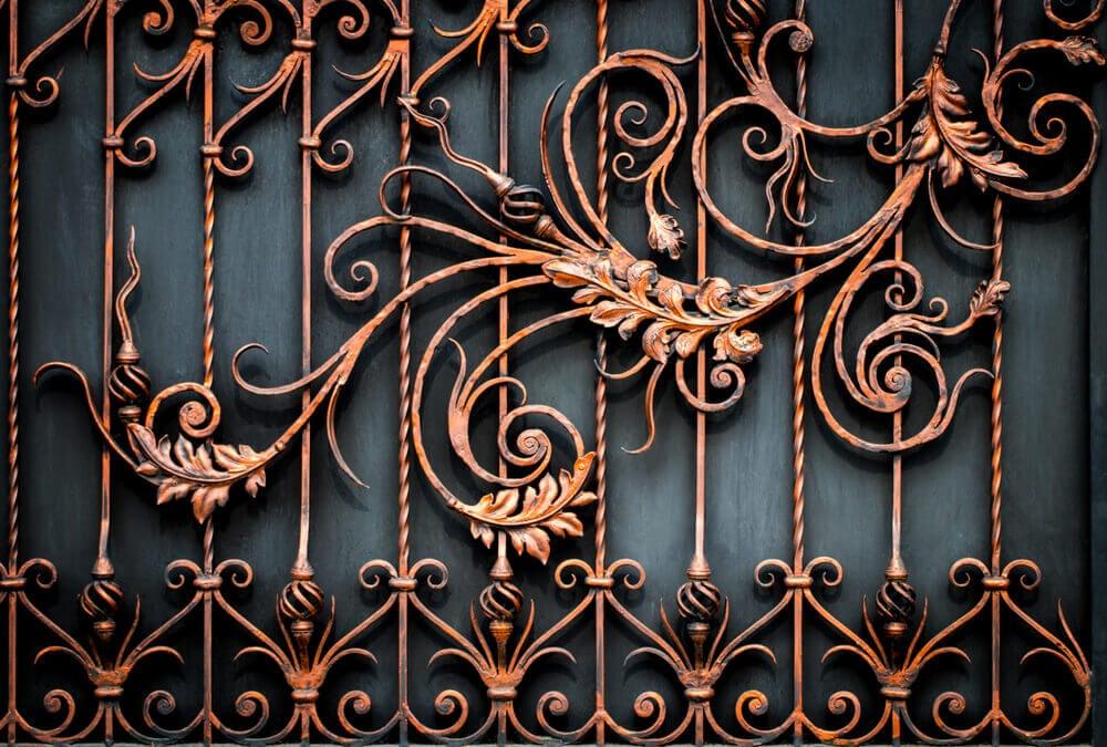 Corrimãos originais feitos em ferro forjado