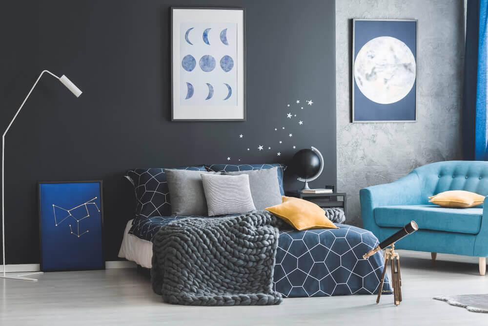 Recursos da astronomia para a decoração da casa