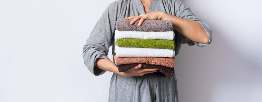 combinar as toalhas com o banheiro