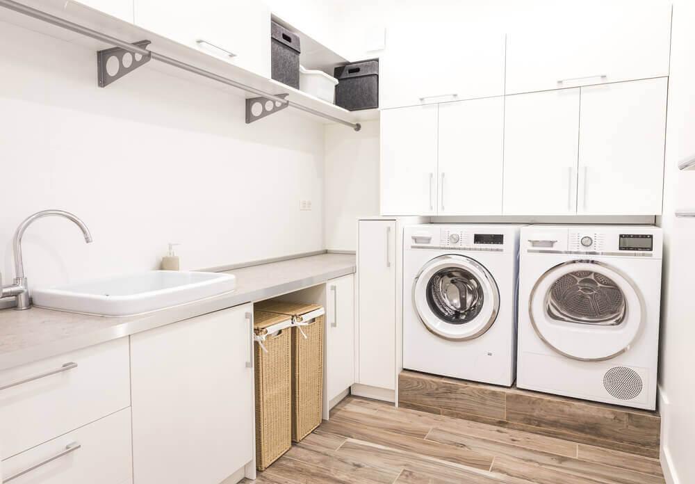 Máquina e secadora de roupas