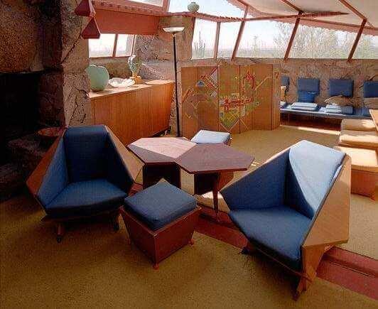 A cadeira Taliesin, um assento diferente