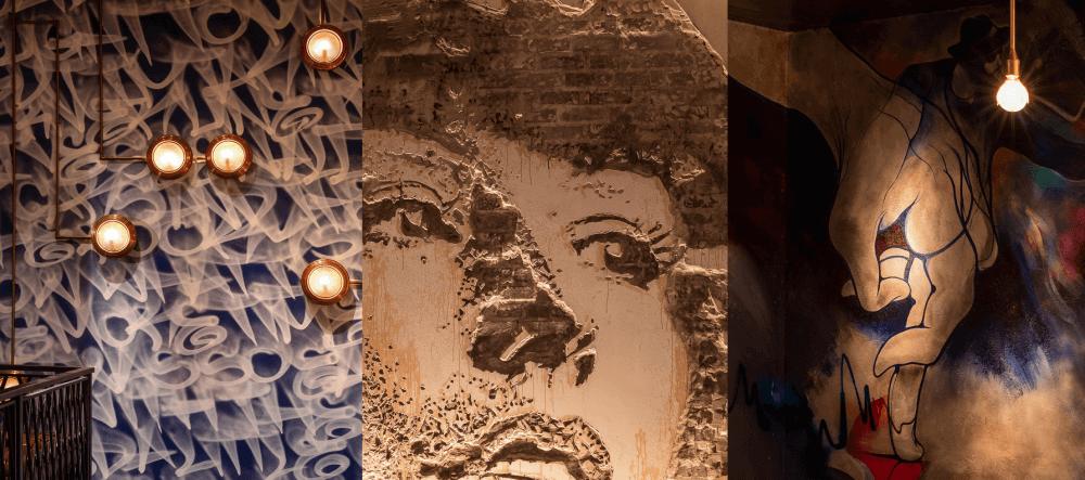 Murais e grafites no setor comercial
