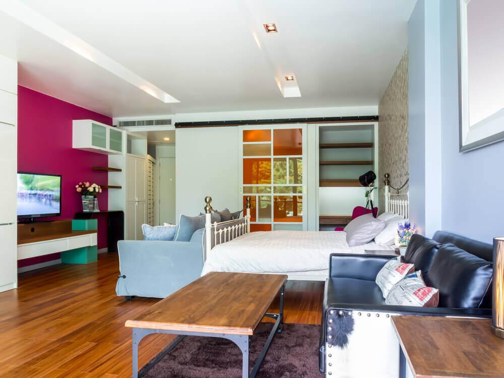 A cor magenta na decoração da casa