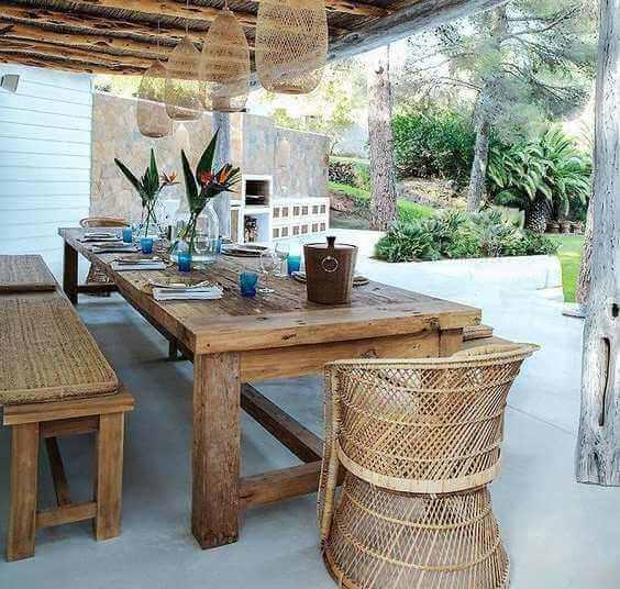 Que tal montar uma sala de jantar de verão?