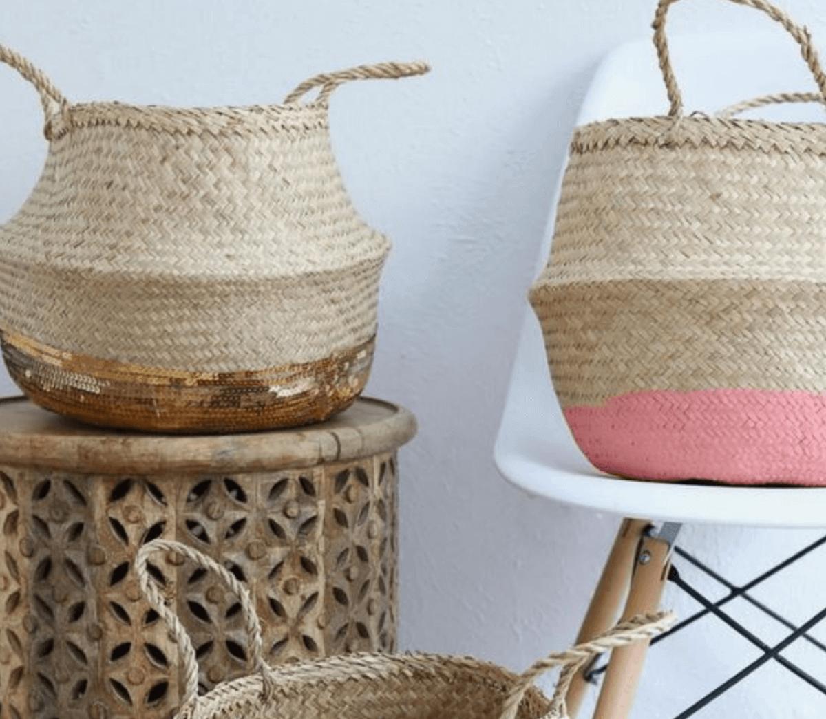 Ideias geniais para decorar com cestas