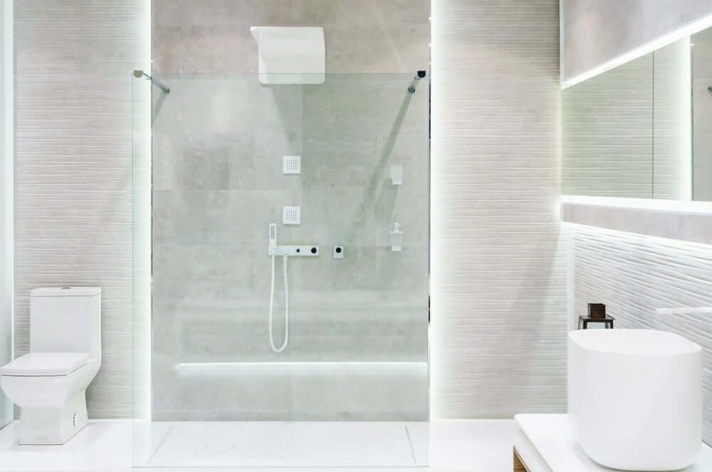 chuveiro aberto