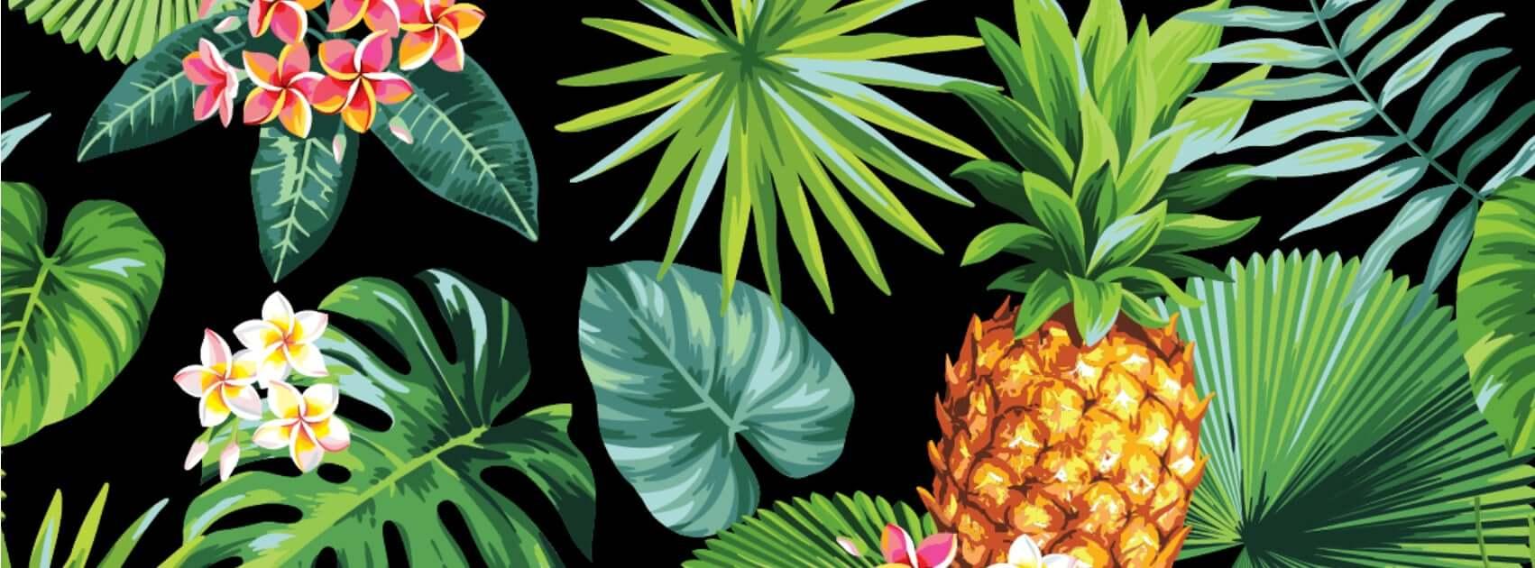 A decoração tropical chegou em casa