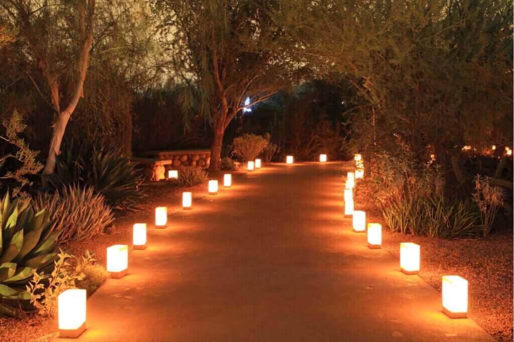 Luzes ao nível do chão, um novo efeito estético
