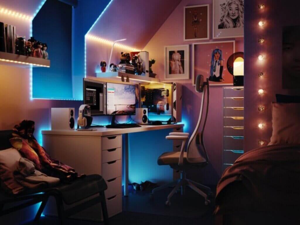 A IKEA está lançando uma coleção de móveis e acessórios para gamers