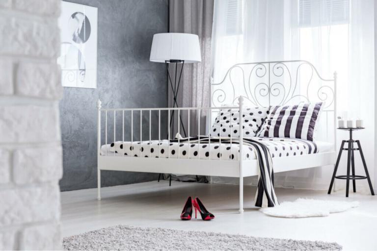 A beleza das camas de metal