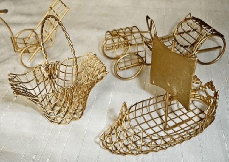O uso do arame dourado na decoração do lar
