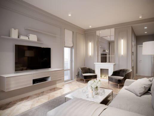 Oturma Odası İçin Tasarımcı Dekorasyonu Yapmak