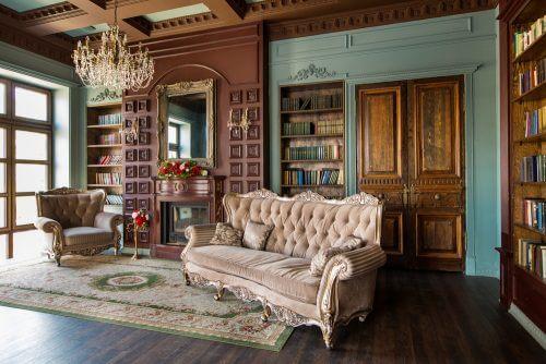 Victoria tarzı oturma odası