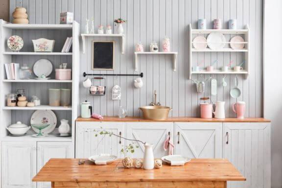 ahşap prefabrik ev mutfağı