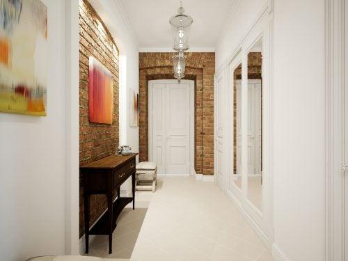 küçük koridorlar için beyaz