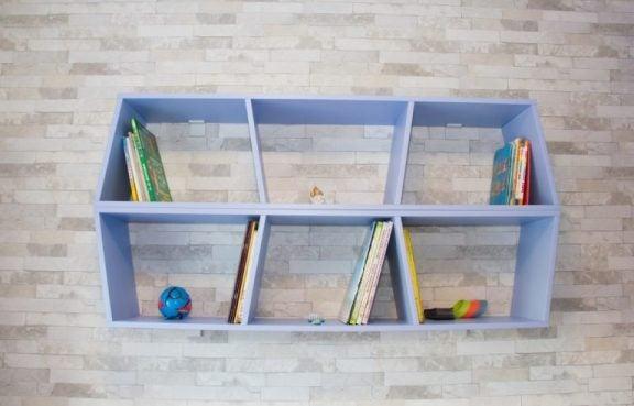 küçük evler için kitaplıklar