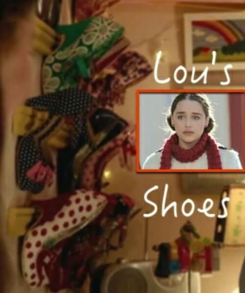 senden önce ben filmindeki ayakkabılık