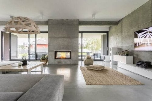 betonarme oturma odası