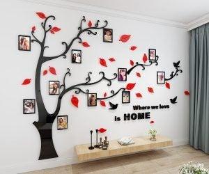 dekoratif viniller ile duvara aile ağacı