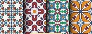 renkli mozaik desenli hidrolik fayanslar