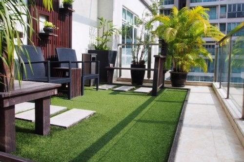 çimler teras oturma yerleri