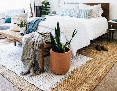 doğal liflerden yatak örtüsü