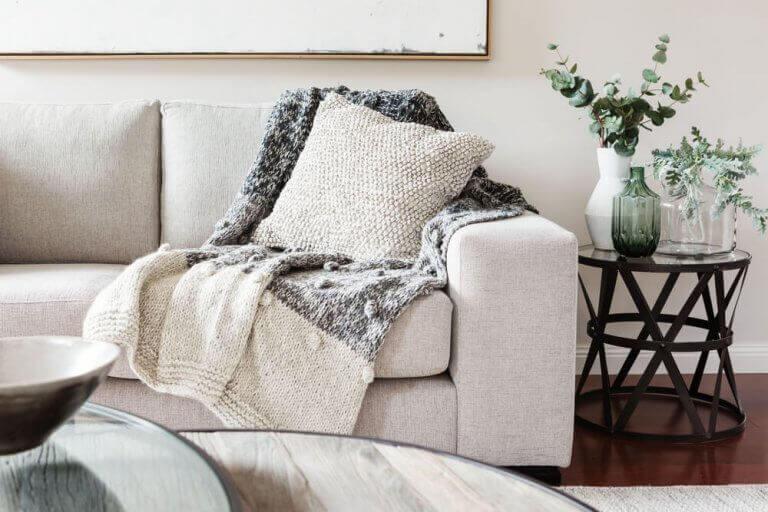 battaniyelerle rahat dekorasyon