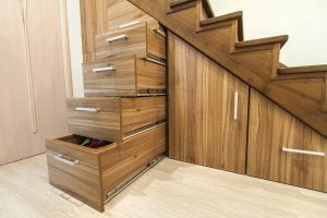 merdiven altı çekmece depolama