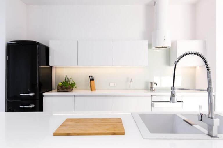 minimalist dekorasyon ile mutfak