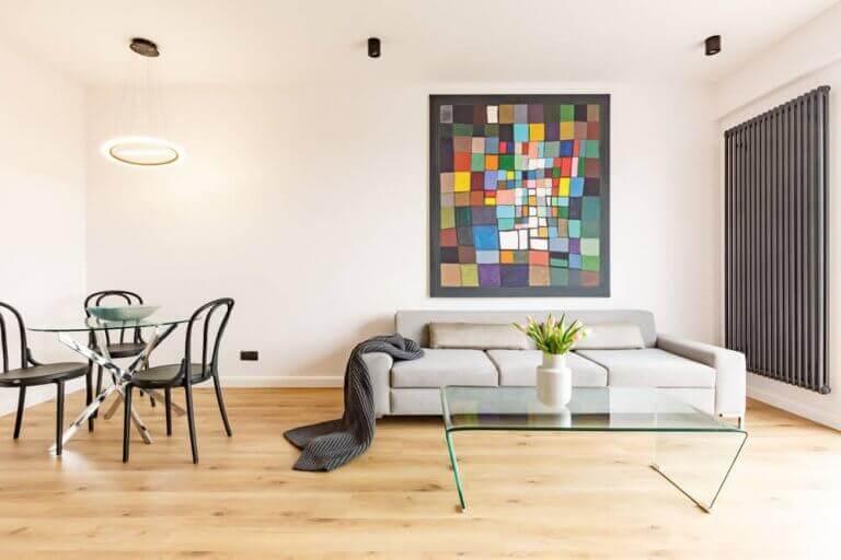 oturma odası büyük tablo