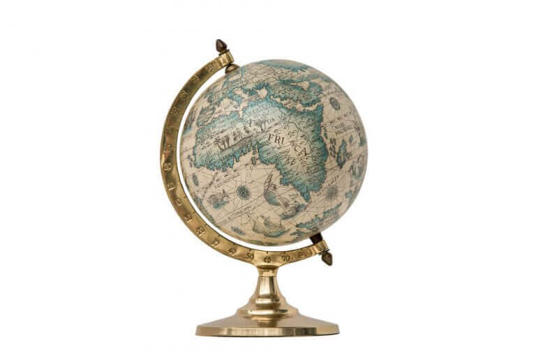 küre dünya haritası