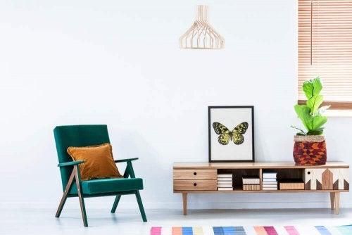 iç dekorasyonda kelebek deseni