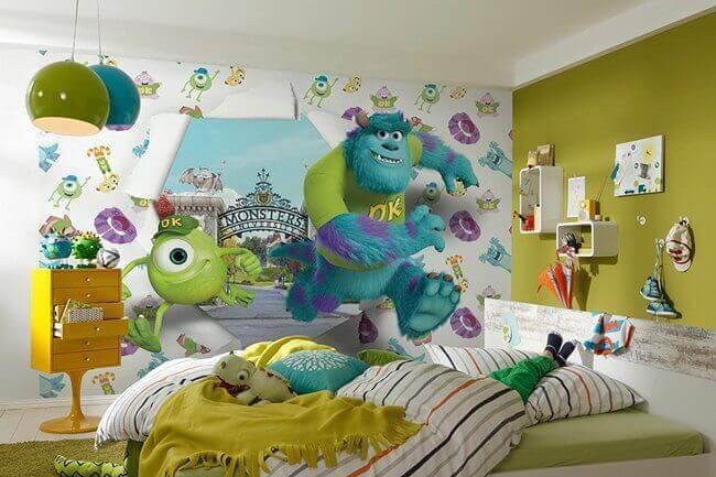 sevimli canavarlar çocuk yatak odası
