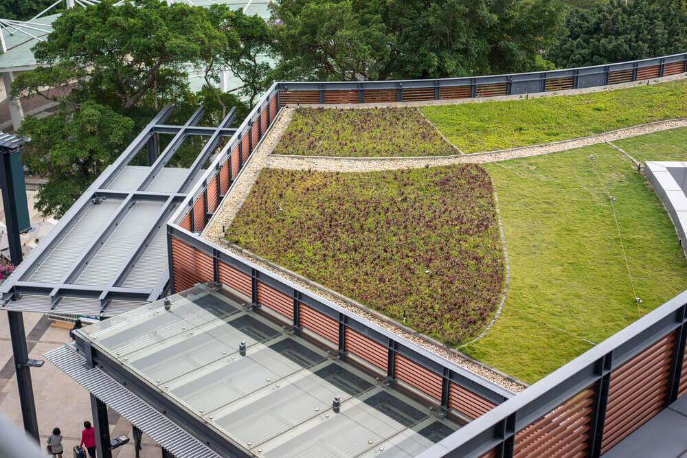 dekoratif yeşil çatılar
