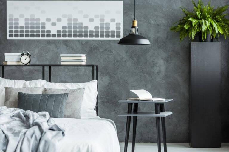 Siyah klasik mobilyalı yatak odası