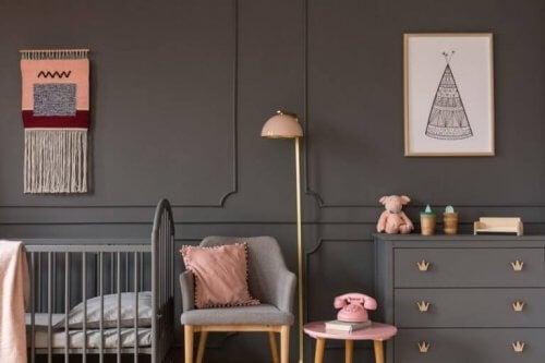 gri çocuk mobilyası