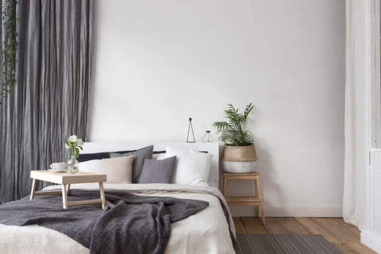 yatak odasında tekstiller
