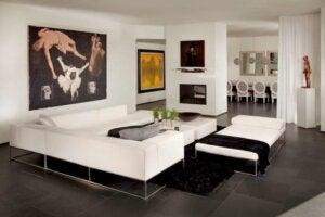 minimalist dekorasyon tarzında mobilya mümkün olduğunca az olmalı