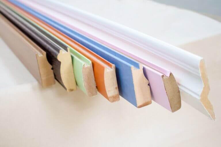 Renkli tahta dizisi